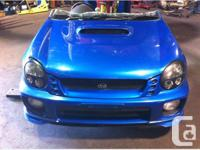 JDM SUBARU WRX STI VERSION 7 FRONT CLIP COMPLETE RIGHT