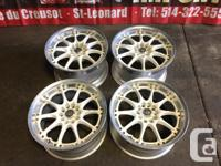 MAGS JDM VOLK RACING GT-N WHITE MAGS 17INCH 5X114.3 FOR