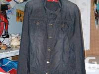 This Guy's Corduroy Jacket is Dimension Big. It is navy