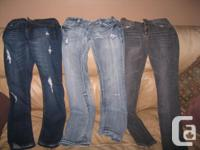 3 pairs of jeans that are no longer being worn 1) BRAND