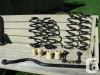 Front Track Bar Front and Rear Coils Front Sway Bar and