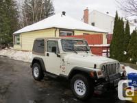 Make. Jeep. Model. TJ. Year. 2000. Colour. White. kms.