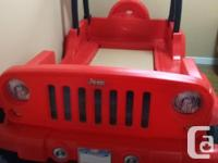 Selling wonderful jeep wrangler bed. Great for kids to