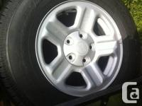 I have a fresh set of 4 wheels and tires, size