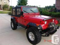 Make Jeep Model Wrangler Year 1992 Colour red kms