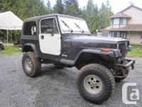 Make Jeep Model YJ Year 1990 Colour black kms 230000