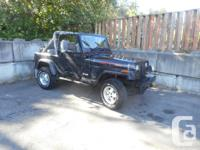 Make Jeep Model YJ Year 1990 Colour Black kms 269000