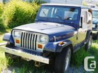Make. Jeep. Version. YJ. Year. 1993. Colour. Blue.
