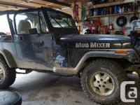 Make Jeep Model YJ Year 1992 Colour BLACK kms 12345