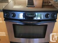 In perfect condition, replaced for gas stove. Glass top