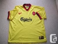 Available for sale: Liverpool F.C. soccer away jersey