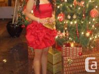 Size 8 Jessica McClintock red formal dress. EUC worn