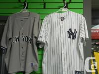 MONEY MAXX HAS TWO YANKEES JERSEYS FOR SALE. PINSTRIPE