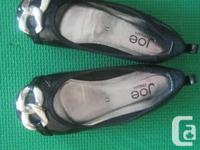JOE FRESH Slip on Black Gown shoes with adorable silver