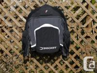 Never used Joe Rocket motorcycle jacket, black with