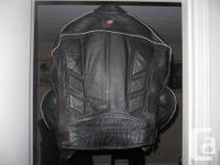 Joe Rocket Sonic 2.0 leather street bike jacket in