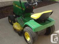 "John Deere 185 lawn tractor with removable 38"" cutting"