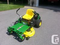 """John Deere Z235 42""""zero turn lawn mower. Bought in May"""