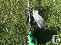 WORKS GREAT, POWERFUL TRIMMER AND TILLER WORKS GREAT