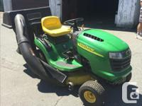 Rarely used L100 ride on mower in great condition and