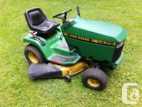 This mower is in good running condition. New ignition