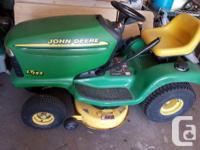 John Deere riding lawn mower for sale. 13 horse Kohler