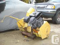 I built this JD blower up to run on a small cat that we