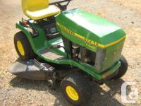 "John Deere STX 38"" cut. Good shape. 13 HP Kohler"