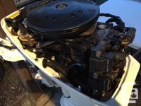 1986 Johnson (J15RCDE) 15hp Outboard Motor. Clean and