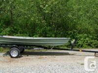 "JON Boat 12' x 42"" wide, Used, well constructed. 4 HP"