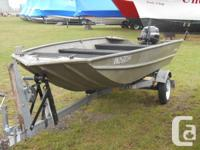 2001 14' Deep V Jon Boat for Sale with a new 9.9
