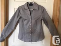 Classic gray blouse Size small, quality material.