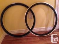 FOR SALE.  EighthInch Julian Rims 700c. Flat black. 32h