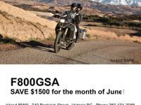 June Savings at Island BMW! New 2015 BMW F700GS - SAVE