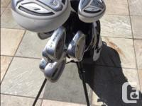 Clubs are all graphite shafts and in good condition.