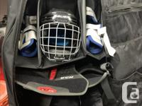 Junior Hockey gear for 9-11 year old, Prodigy helmet
