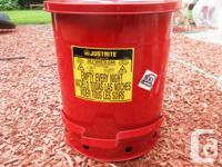 Justrite Oil & Solvent Waste Cans  14 Gallon  With Foot