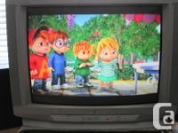 Used JVC 27 inch TV with remote. Television has very