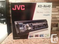 I am selling my JVC KD-R640 car deck. Its brand new in
