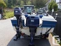 17 1/2 K&C boat, roadrunner trailer fully equipped for