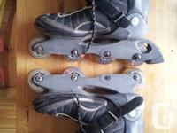Rollerblades are somewhere in the range of 5-7 yrs old,