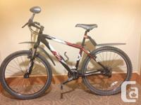 Lightly utilized, 27 rate mountain bicycle with front
