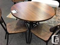 """Kai Dining Table: $599 36"""" d x 30"""" h Made in Canada"""