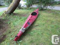 16.5 ft Chinook Aqua-terra Kayak - rigged with 15sq. ft