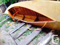 Here's a personalized antique canoe. Has no gaps in it