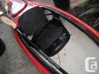 thermo molded, rear cargo storage, spray skirt, rain