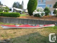 kayak - nimbus fiberglass horizon - 16 ft - rudder - 2