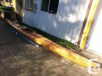 Cedar strip Kayak for sale 17 ft long, 50 Lbs,