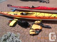 Two beautiful Seaward kayaks in virtually new
