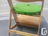 The Wooden Kids Chair from Keekaroo grows with your